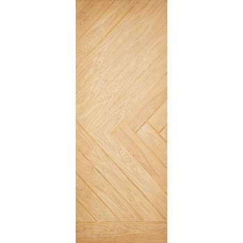 Oak Chevron External Door Wooden Timber