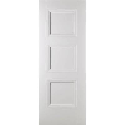 White Primed Amsterdam Internal Fire Door Wooden Timber - Do...
