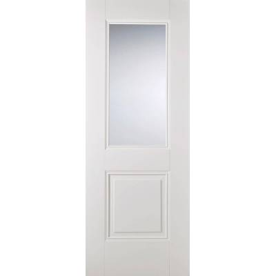 White Primed Arnhem Glazed Internal Door Wooden Timber - Doo...