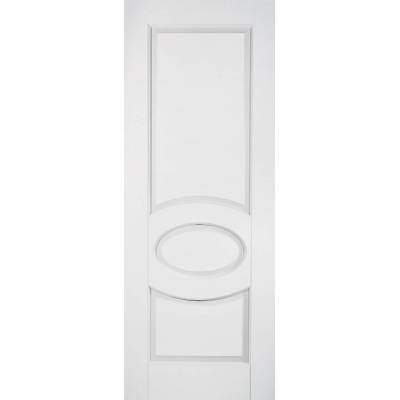 White Primed Bordeaux Internal Fire Door Wooden Timber - Doo...