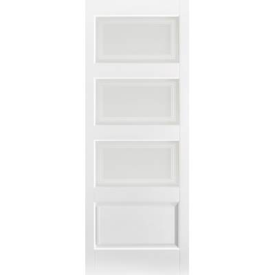 White Primed Contemporary Glazed Internal Door Wooden Timber...