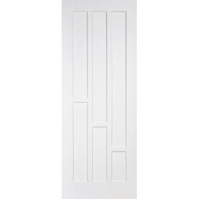 White Primed Coventry Internal Door Wooden Timber - Door Siz...