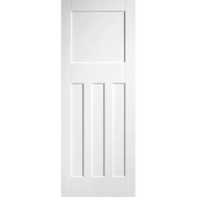 White Primed DX 30's Style Internal Door Wooden Timber - Doo...