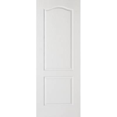 White Textured Classical 2 Panel Internal Door Wooden Timber...