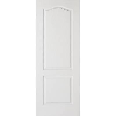 White Textured Classical 2 Panel Internal Door Wooden Timber...