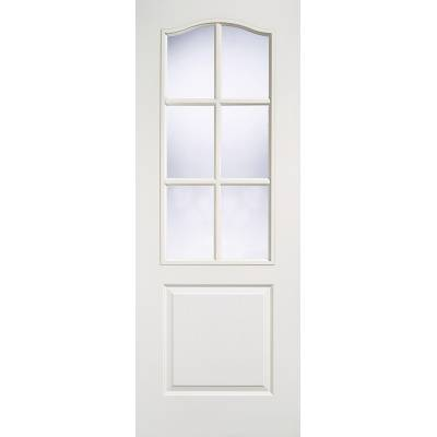 White Textured Classical Glazed Internal Wooden Timber - Doo...
