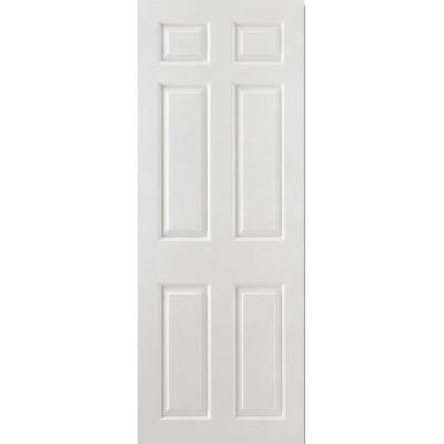 White Smooth 6 Panel Internal Door Wooden Timber - Door Size...