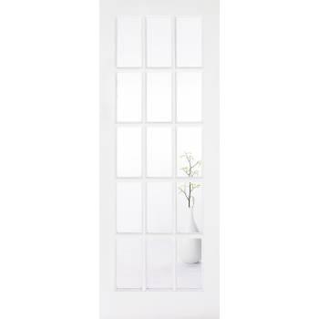 White Primed SA Glazed Internal Door Wooden Timber
