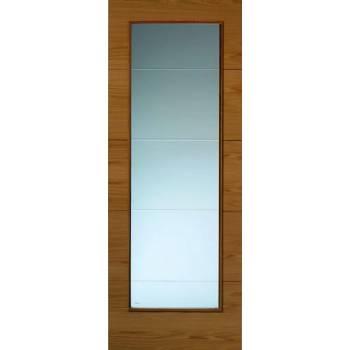 Pre Finished Contemporary Oak Royale VT5 Glazed Internal Door