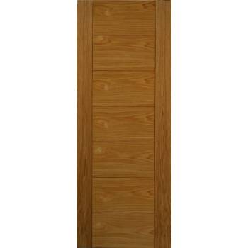 Pre Finished Contemporary Oak Royale VP7 Fire Door