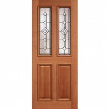 Hardwood Derby Leaded External Door Wooden Timber