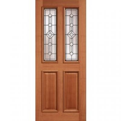 Hardwood Derby Leaded External Door Wooden Timber - Door Siz...