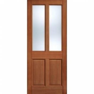 Hardwood Malton Clear Glazed Internal Door Wooden Timber - D...