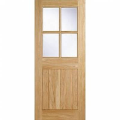 Oak Cottage 4 light External Door Wooden Timber - Door Size,...