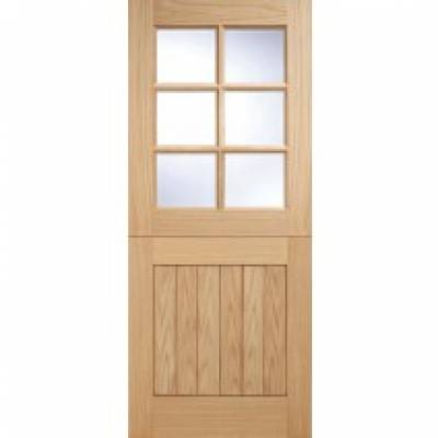 Oak Cottage Stable 6 light External Door Wooden Timber  - Do...