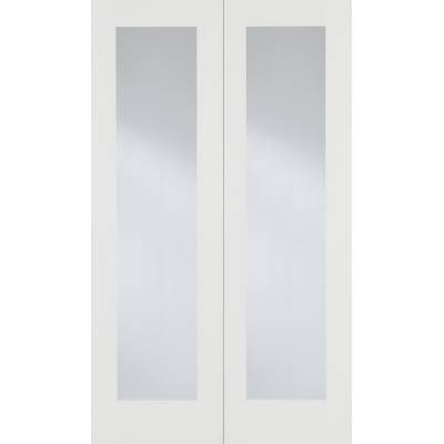 White Primed Pattern 20 Glazed Internal French Door Pair Woo...