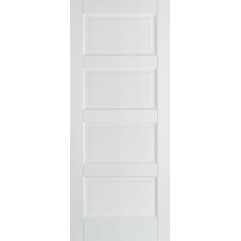 White Primed Contemporary Internal Fire Door Wooden Timber
