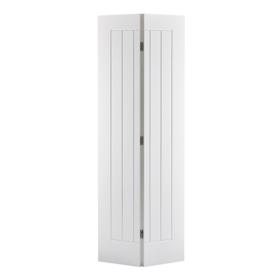 White Primed Mexicano Bi-Fold Internal Door Wooden Timber - ...