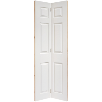 White Textured 6 Panel Bi-Fold