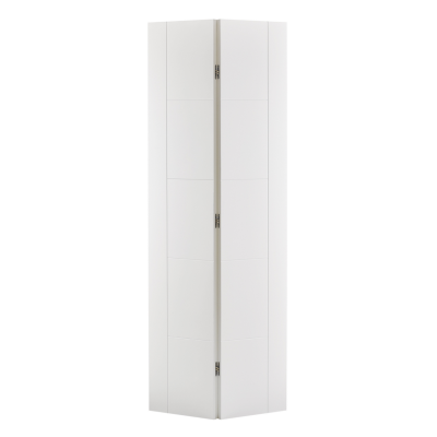 White Primed Vancouver Bi-Fold Internal Door Wooden Timber -...