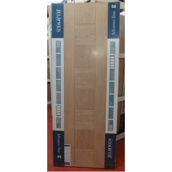 Engineered Oak Pablo External Panel Door 80x32 78x33 78x36 Wooden Timber
