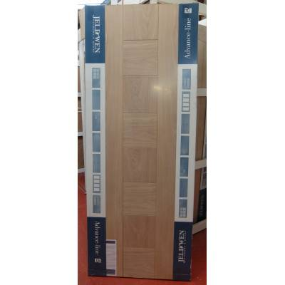 Engineered Oak Pablo External Panel Door 80x32 78x33 78x36 Wooden Timber - Door Size, HxW: