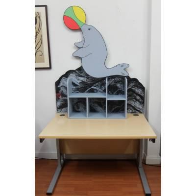 Desk Childs Bedroom Shelving Shelf Kids Childrens Nursery Office Seal Storage - Product Combination: