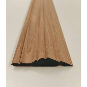 Solid Oak Kitchen Cornice 1.8m 95x21mm Units Trim Moulding Wooden Timber Mould