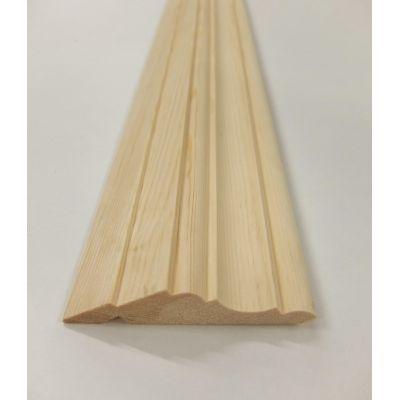 Solid Pine Kitchen Cornice 1.8m 95x21mm Units Trim Moulding ...