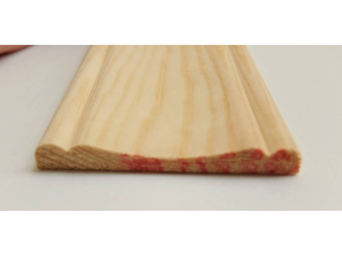 Cover Mould Pine decorative trim moulding 56x7mm 2.4m beading wooden ...