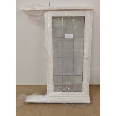 Wooden Timber Window Georgian  White Double Glazed 625x1270m...