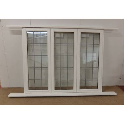 Wooden Timber Double Glazed Window Georgian Lead  White  176...