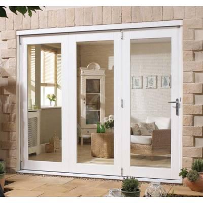 White Folding Doors