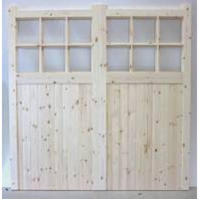 Apertured garage doors