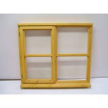 Wooden Timber Window Horizontal Centre Bar Casement Unglazed Jeldwen 1195x1195mm