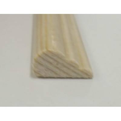 Broken Ogee Pine decorative trim moulding 15x8mm 2.4m beadin...