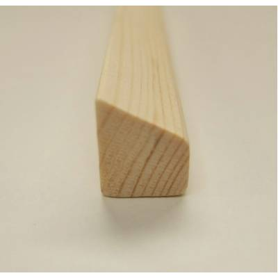 18x15mm Wedge Bevel Wooden Softwood Pine Bead Beading Timber...