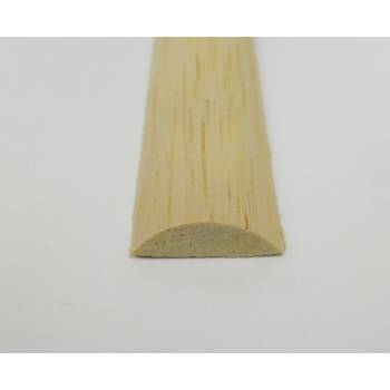 Half round decorative trim moulding 18x6mm 2.4m beading wooden timber edging