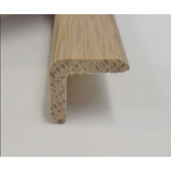 Angle Oak cushion corner trim moulding 20x20mm 2.4m beading edging - BOWED