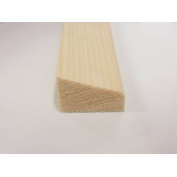 Wedge bead pine decorative trim moulding 21x15mm 2.4m wooden timber edging