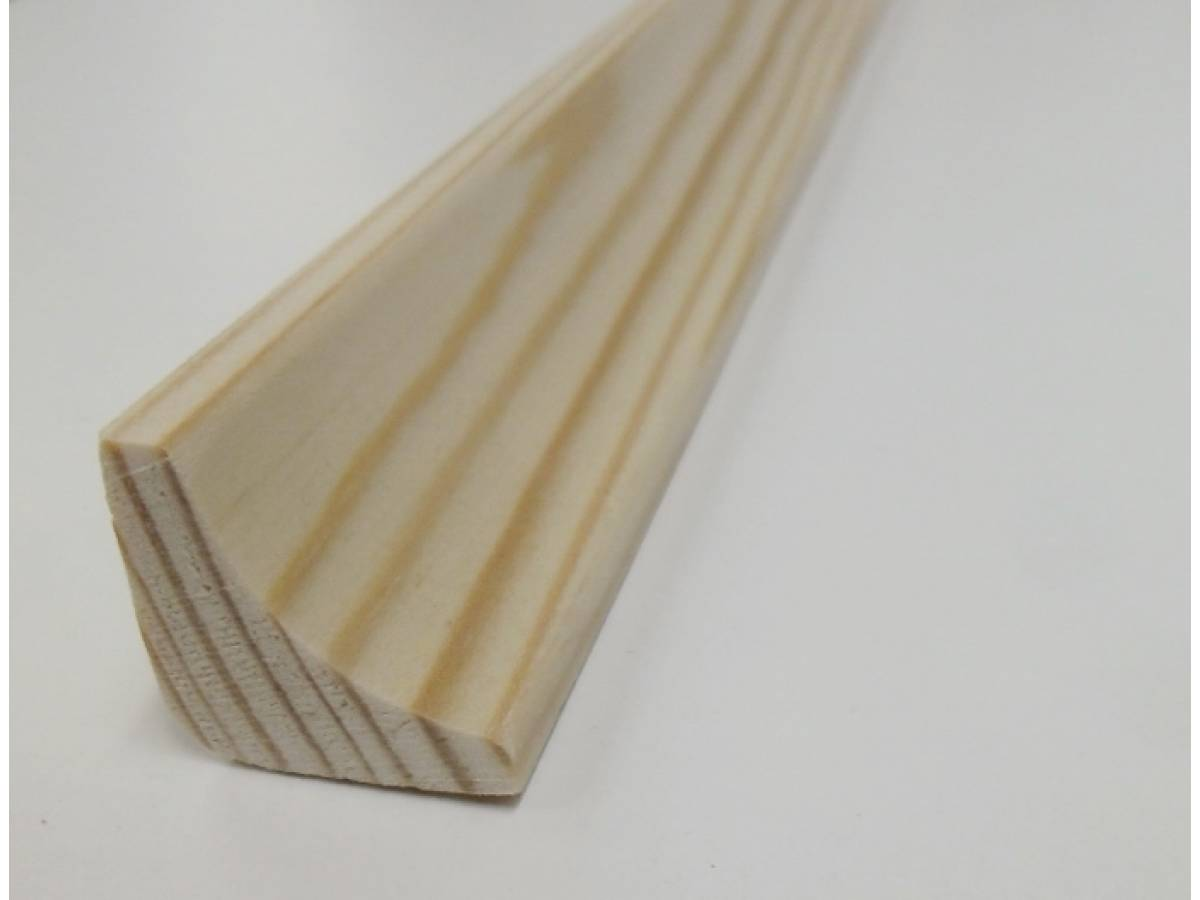 Scotia Pine Decorative Trim Moulding 21x21mm Beading