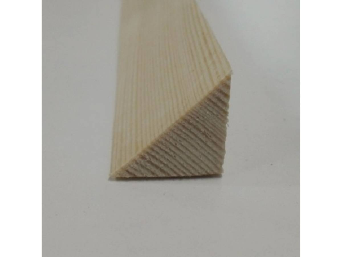 Triangle pine decorative trim moulding 21x21mm for Decor moulding