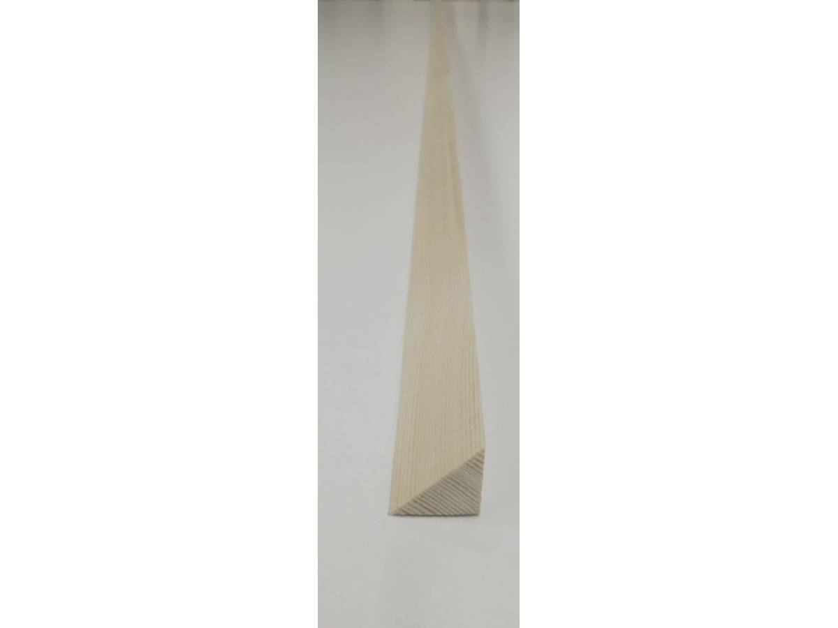 Triangle Pine Decorative Trim Moulding 21x21mm 2.4m Beading Wooden Timber  Edging