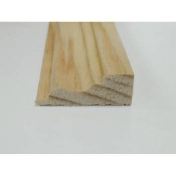 Base Pine decorative trim moulding 21x8mm 2.4m beading wooden timber