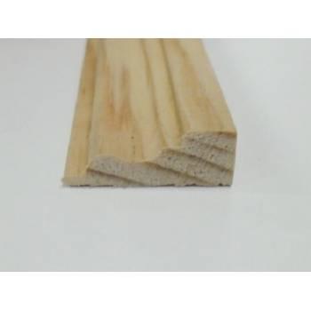 Base Pine decorative trim moulding 21x8mm 2.4m beading wooden timber