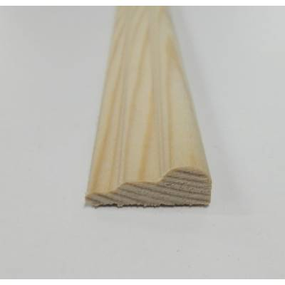 Broken Ogee Pine decorative trim moulding 21x8mm 2.4m beadin...
