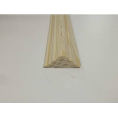 Double Astragal Pine decorative trim moulding 21x8mm 2.4m be...