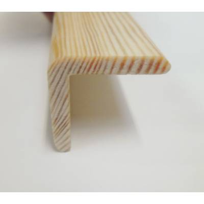 Angle pine cushion corner trim moulding 27x27mm 2.4m bead wo...