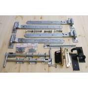 Garage Door Ironmongery kit - 5 Lever Lock, Handles, Bolts and Screw Pack