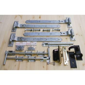 Garage Door Ironmongery kit - 5 Lever Lock, Handles, Bolts and Screw Pack